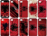 Low price!New skin design albania flag case hard back cover for iphone 4 4s 10PCS/lot+Free shipping