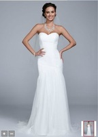 Free Shipping Strapless Tulle Trumpet Gown Style WG3591 wedding Evening/Homecoming Dresses In Stock