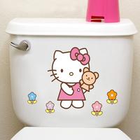 Personalized wall stickers bathroom waterproof toilet stickers
