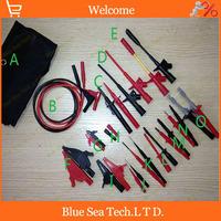 Automobile maintenance&Multimeter industry test tool kids/sets.Piercing Clip+test hook+alligator clip+Tip probe 15 in 1 sets