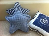 hot sales,rustic stripe plaid dot star handmade pillow gift,star cushion