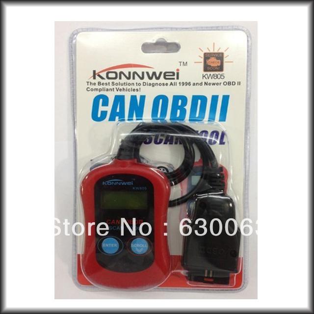 FREE SHIPPING Car Diagnostic Tool KONNWEI KW805 Code Scanner Fault Reader CAN OBD2 OBD II EOBD ENGINE MANAGEMENT(China (Mainland))