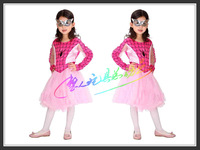 Pink Spiderman costume for girl , spiderman dress with mask,halloween costume,three size D-1150