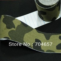 Camouflage applique kinesiology kinesio tape sports tape bandage elastic bandage 5cmx5m Muscle Tape Waterproof  Free shipping!
