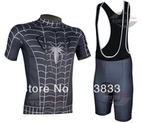 2014 New Arrival Spider-Man Cycling Short Bib Set And Sport Clothing Wholesale
