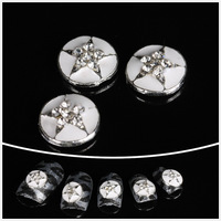 Стразы для ногтей New Fashion 250 Pieces 5mm Beauty Nail Art Mix Heart Style Metal Studs Rivet DIY Decorations for Nails/Cellphones