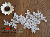 2014 wedding dress lace motif hair accessory corde lace applique motif ivory off withe