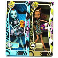 T0324 Monster High Dolls 24cm Most Popular Ghost Sister Girls Plastic toys Wholesale 2pcs/lot New style Hot Seller