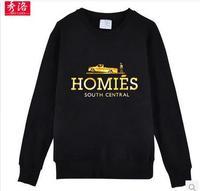 Men/Women's high quality black HOMIES long sleeve casual t-shirt pullover hoodie