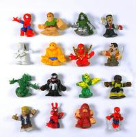10pcs/ pack  Marvel Spiderman Electro The Lizard Dr Doom Venom Mini Figure Boy Toy Random