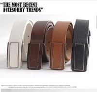 Men's Belts  Medusa Belt Cintos Masculinos Slimming Belt New Fashion Men's Faux Leather Shape Metal Buckle Belt 4 Colors PK143