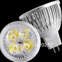 Free shipping 5pcs/ lot 12V MR16 4*1W high power led spotlight