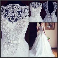 popular beaded wedding dress