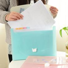 Trojan portable expanding accordion pocket bill bag multi-layer file folder(China (Mainland))