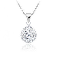 For Regular Buyers,10mm crystal white shamaballa necklace jewelry.Free Shipping,925 silver plated necklace jewelry.