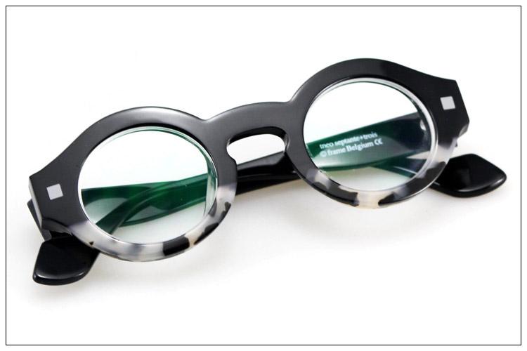 Vintage round box theo fashion eyeglasses frame myopia Men women's glasses(China (Mainland))