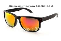 30 Colors Black Frame Red Mirror Polarized Lens Fashion Eyewear Sports Sunglasses Hot sunglasses for Men/Women
