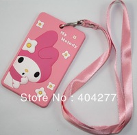 Cartoon My Melody Silicone Badge/Credit Card/ID Holder with Neck Strap