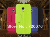 HI-Q 2014 PU Leather luxury Case Flip Cover For Alcatel One Touch Pop C5  Via Free DHL/EMS