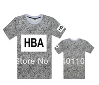 HBA Cements T shirts good quality for Tees Mens T-shirts 3 styles short sleeve Free Shipping Size S-XXXL