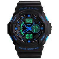 Male sport watch dual display outside hiking waterproof electronic watch male led multifunctional watch