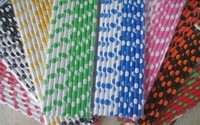 Free Shipping - Hot Wedding Party Favor Paper Straws, Stripe, Polka dot, Wavy Printed Drinking Straw Mixed Color Wholesale