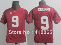 Buy 2014 Youth #9 Amari Cooper Red/White Team College Rugby Football Game Sports Jersey,Embroidery Logo Name