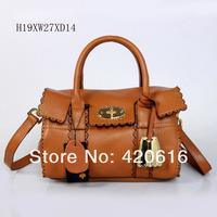2014 Fashion New Women Genuine Messager Alexa Leather Handbags Tree Logo Designer Brand bags Totes EMS Purses Free Shipping