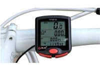 New Yt-813 Waterproof Bike Bicycle Cycling Computer Lcd Odometer Speedometer Speedo & Mount