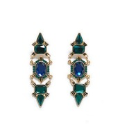 Women's bohemia style drop earrings New arrival fashion diaphanous gem earring for women wholesale