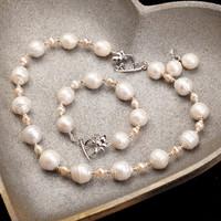 2014 New Brand Freshwater Pearl Genuine Baroque Choker Vintage Necklace Luxury Handwork Jewelry#BPE30/E31