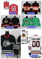 chicago blackhawks blank customized men's ice hockey jersey put your name and number hockey shirt epacket free shiping