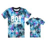 Boy London GALAXY T shirts mens 100% cotton T-shirts 6 styles short sleeve Free Shipping Size S-XXXL