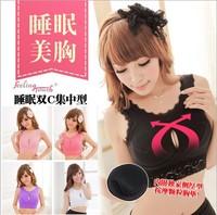 Sleeping bra push up vest lace paragraph massage pad sports underwear