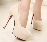 New Arrival hot selling suede Wedding red waterproof nightclub Princes elegant Womens Pumps lady Heart High Heel Shoes 34 DX159