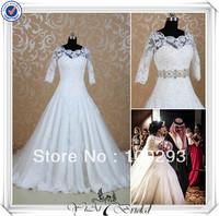 RSW490 Beading New Fashion Applique Elegant Dresses For Weddings Long Train