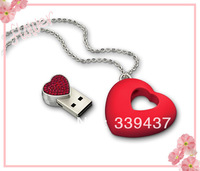 Wholesale and custom United States new Swarovski crystalsHeart to heart usb flash drive pendant