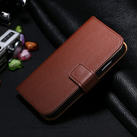 Case For Samsung GALAXY S4 S IV i9500 Genuine Leather Cases For Galaxy S4 Wallet Flip Cover Stand Pouch With Card Holders