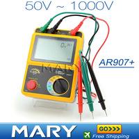 AR907+ Voltage Insulation Tester Meter 1000v Digital Insulation Resistance Tester Digital Megger