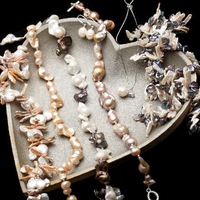 2014 New Brand Trend Freshwater Pearls Genuine Baroque Necklaces/Bracelet Vintage Exquisite Luxury Handwork Jewelry#BP001-008