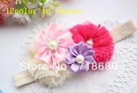 AngelBaby headwear2013 New design  headbands Baby Girl Christmas Gifts Combination of flowers headband 20pcs/lot