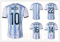 014 the World Cup Argentina soccer jersey EMBROIDERY best thai quality argentina MESSI football Uniforms t shirt free shipping