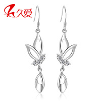 Fashion butterfly earrings accessories s925 pure silver noble elegant birthday gift girlfriend gifts memorial gifts