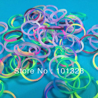 FREE shipping  300pcs /  bag 2013  rubber refills bands Colorful rainbow loom bands