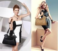 2014 Fashion Genuine Leather Bag grained  Cowhide Women's messenger Bag Shoulder Bag Lady's  Embossed Vintage Handbag 12 Colors