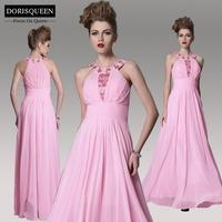 DORISQUEEN new arrival a line floor length jewel beaded pink sparkle prom dresses 30938