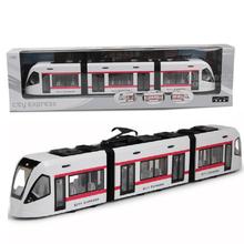 DANCHEL Orbit train subway electric trolley lightrail model train toy car open the door(China (Mainland))