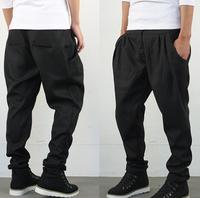 2015 New Autumn And Winter Men Casual Pants  Harem Pants Trousers Men Cotton Leisure Hip Hop Pants Long Pants Plus Size Cross