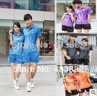 Victor Badminton Clothing Set Men and Women Sportswear Jersey  Ladies Badminton Clothes Sport Shirt Accept Personalize L024