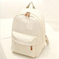Free Shipping, School Backpack/Canvas Bag, Shoulder travel bag, Lace shoulder bag, Pastoral style backpack